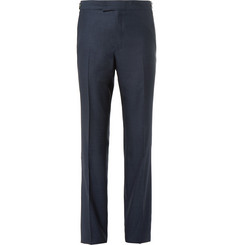 Kilgour - Navy Wool and Silk-Blend Suit Trousers