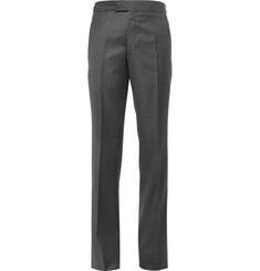 Kilgour Charcoal Slim-Fit Super 110s Wool Suit Trousers