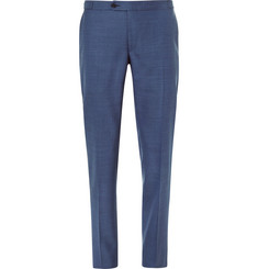 Thom Sweeney Blue Weighhouse Slim-Fit Wool Suit Trousers