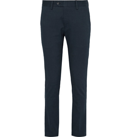 Theo Slim-fit Stretch-cotton Chinos - Blue