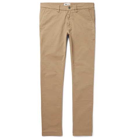 Marco Slim-fit Stretch-cotton Twill Chinos - Beige