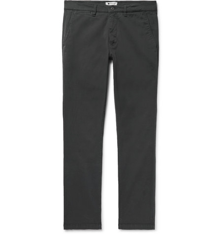 Marco Slim-fit Stretch-cotton Twill Chinos - Charcoal