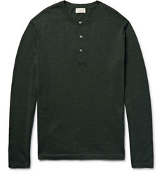 Club Monaco Merino Wool, Silk and Cashmere-Blend Henley Sweater