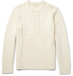 Club Monaco Textured Wool and Cashmere-Blend Sweater