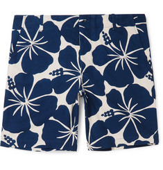 Freemans Sporting Club Hawaiian-Print Cotton Shorts