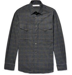 Private White V.C. Slim-Fit Checked Brushed Cotton-Flannel Shirt