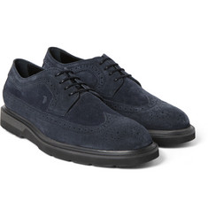 Tod's - Suede Wingtip Derby Shoes
