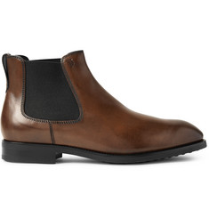 Tod's Burnished-Leather Chelsea Boots
