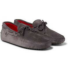 Tod's - + Ferrari Gommino Suede Driving Shoes