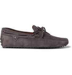 Tod's + Ferrari Gommino Suede Driving Shoes