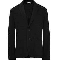James Perse Black Slim-Fit Cotton-Jersey Blazer