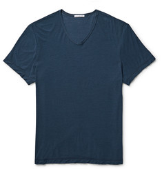 James Perse Slub Cotton and Linen-Blend Jersey T-Shirt