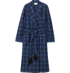 Derek Rose York Checked Wool Robe