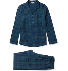 Derek Rose Braemar Checked Cotton Pyjama Set