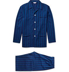 Derek Rose Arctic Striped Cotton-Flannel Pyjama Set