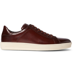 TOM FORD Russel Polished-Leather Sneakers
