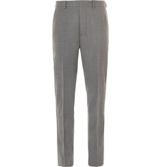AMI Tapered Stretch-Wool Trousers