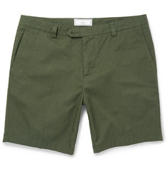 AMI Slim-Fit Cotton-Gabardine Shorts