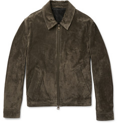 AMI Slim-Fit Suede Jacket