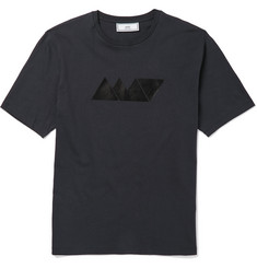 AMI Slim-Fit Printed Cotton T-Shirt