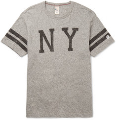 Todd Snyder + Champion - Slim-Fit Printed Mélange Cotton-Jersey T-Shirt