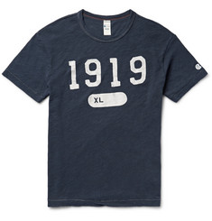Todd Snyder + Champion - Printed Slub Cotton-Jersey T-Shirt