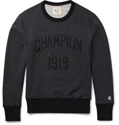 Todd Snyder + Champion - Embroidered Loopback Cotton-Jersey Sweatshirt