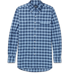 Drake's Slim-Fit Buffalo-Checked Cotton-Flannel Shirt