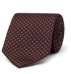 Drake's 9cm Patterned Silk-Faille Tie