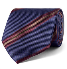 Drake's 8cm Striped Silk-Twill Tie