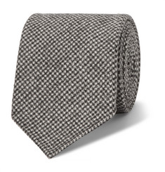 Drake's 8cm Puppytooth Wool and Cashmere-Blend Tie