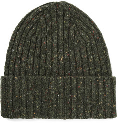 Drake's Ribbed Lambswool Beanie