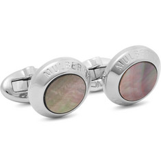Mulberry Silver-Plated Mother-of-Pearl Cufflinks