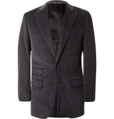 Thom Sweeney Grey Slim-Fit Cotton-Corduroy Suit Jacket