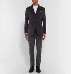 Thom Sweeney Grey Slim-Fit Cotton-Corduroy Blazer