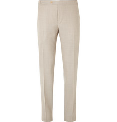 Thom Sweeney Slim-Fit Wool Trousers
