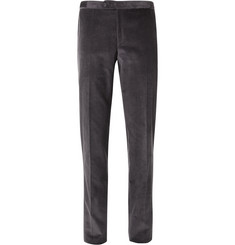 Thom Sweeney Grey Slim-Fit Cotton-Corduroy Trousers