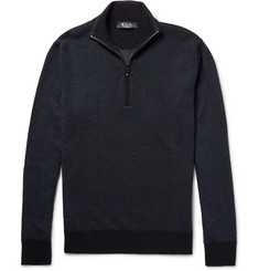Loro Piana - Roadster Striped Cashmere Half-Zip Sweater