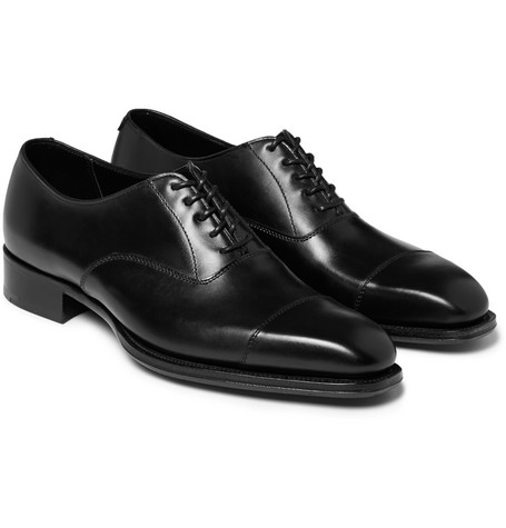 + George Cleverley Leather Oxford Shoes - Black