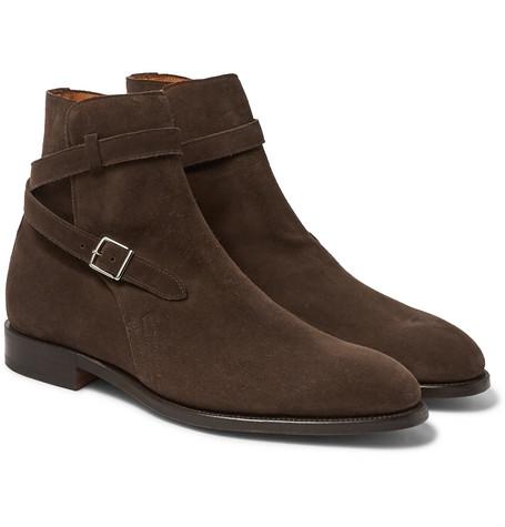 Abbott Suede Jodhpur Boots - Brown