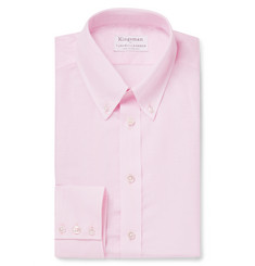 Kingsman - + Turnbull & Asser Pink Slim-Fit Cotton and Linen-Blend Shirt