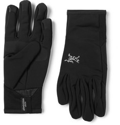 Arc'teryx Venta Leather-Trimmed Stretch-Jersey Gloves