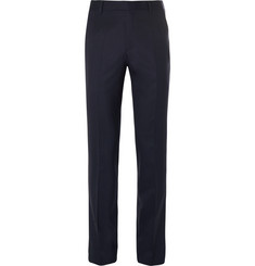 Gieves & Hawkes Navy Slim-Fit Wool-Blend Suit Trousers