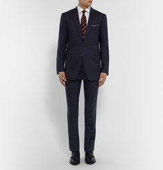 Gieves & Hawkes - Navy Slim-Fit Wool-Blend Suit Trousers