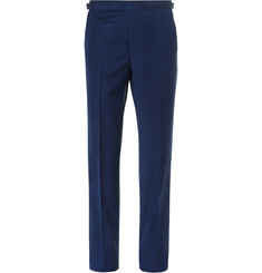 Richard James Navy Basketweave Wool Suit Trousers