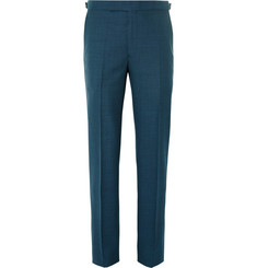 Richard James - Petrol Wool Suit Trousers