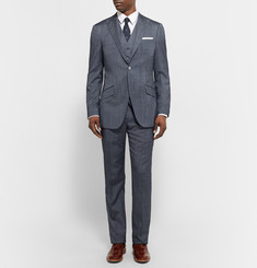 Richard James Blue Seishin Slim-Fit Wool and Silk-Blend Suit Trousers