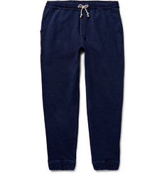 J.Crew - Wallace & Barnes Indigo-Dyed Loopback Cotton-Jersey Sweatpants