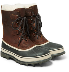 Sorel - Caribou Waterproof Full-Grain Leather and Rubber Snow Boots