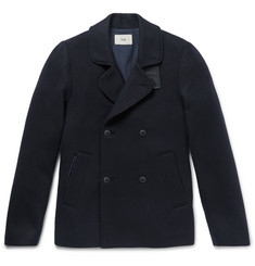 Folk Double-Breasted Virgin Wool Peacoat